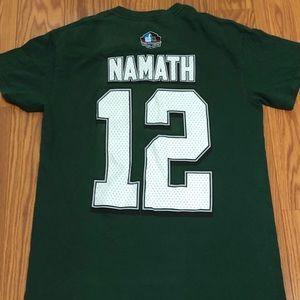 Majestic Joe Namath NY Jets Small HOF T-Jersey